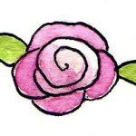 Roosje roze gedraaid