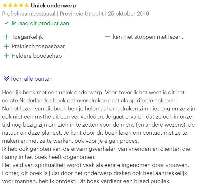 Boekreview van Bol.com over Drakenkracht door Fanny van der Horst