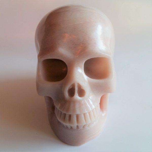 Roze serpentijn schedel 18 cm 3721gram
