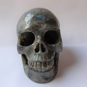 labradoriet schedel 13 cm hoog 1420 gram