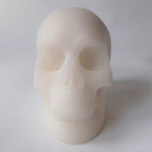 Witte jade schedel groot
