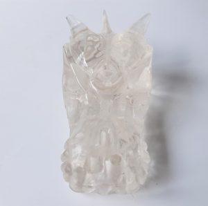 Heldere bergkristaldraak 7.5 cm