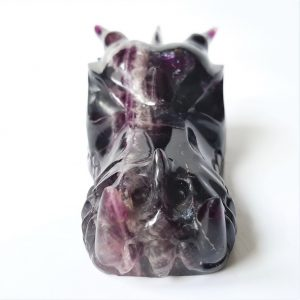 Paarse fluorietdraak 10 cm 279 gram