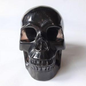 Rookkwarts kristallen schedel 15.5 cm - De Lichtkracht Academie