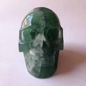 Deze schedel is 13 cm hoog weegt 2159 gram
