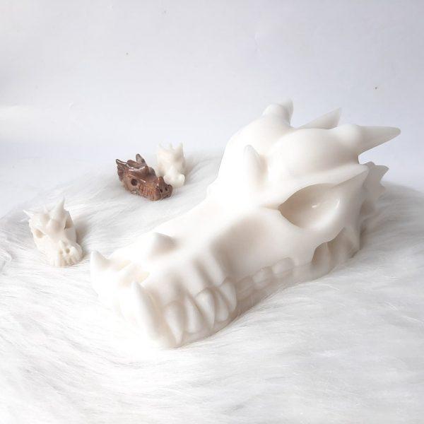 Witte jadedraak 20.5 cm 2456 gram - De Lichtkracht Academie.