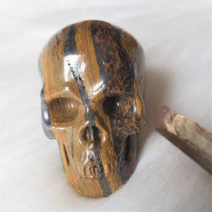 Tijgerijzer schedel 5cm 116 gram - De Lichtkracht Academie.