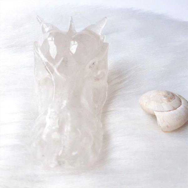 Bergkristaldraak 10 cm 254 gram - De Lichtkracht Aademie.