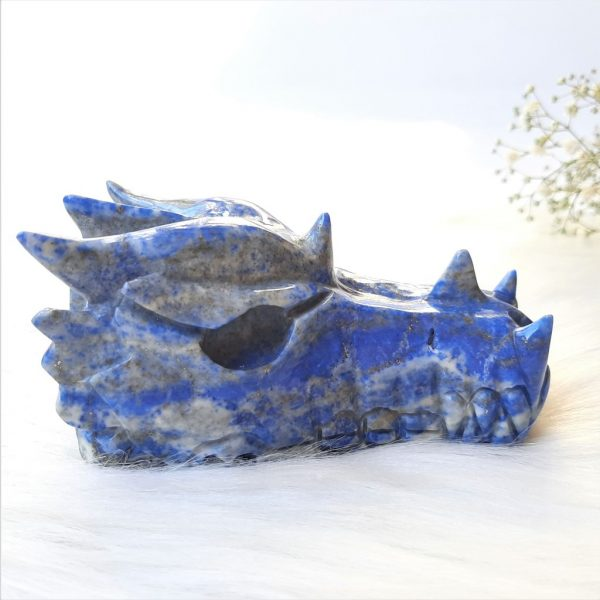Lapis lazuli drakenschedel 10.5 cm 460 gram