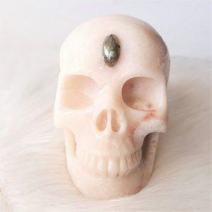 Serpentijn skull 12.5 cm - De Lichtkracht Academie - https://fannyvanderhorst.nl/