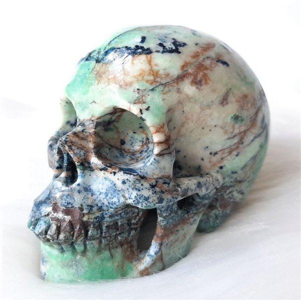Chrysocollaschedel 10 cm - De Lichtkracht Academie - fannyvanderhorst.nl