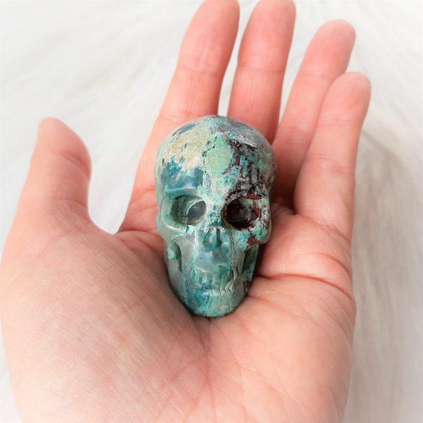 Chrysocollaskull 5 cm - De Lichtkracht Academie - https://fannyvanderhorst.nl/