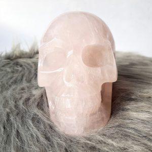 Rozenkwarts schedel 10 cm - De Lichtkracht Academie