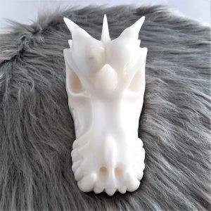 Witte jadedraak 15.3 cm - De Lichtkracht Academie
