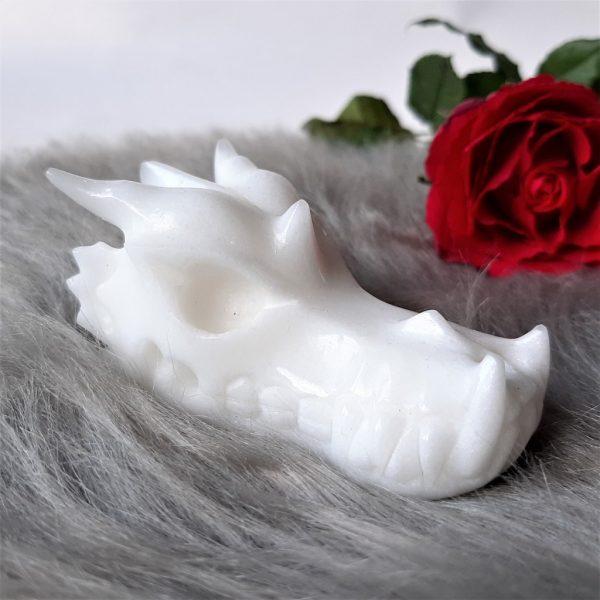Witte jadedraak 7.4 cm - De Lichtkracht Academie
