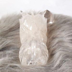 Bergkristal drakenschedel