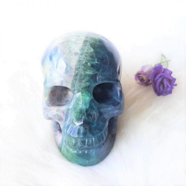 Groene fluoriet schedel - https://fannyvanderhorst.nl/