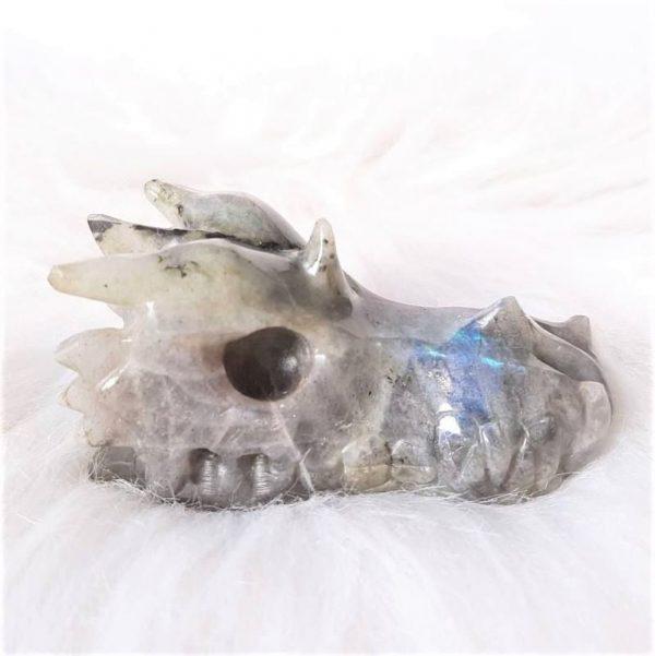 Drakenschedel labradoriet 7.5 - Kristallen schedels en draken als helper & healer ⋆ fannyvanderhorst.nl