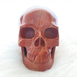 Rode jaspis skull - De Lichtkracht Academie - fannyvanderhorst.nl