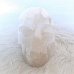 Kristallen schedel seleniet - De Lichtkracht Academie - fannyvanderhorst.nl