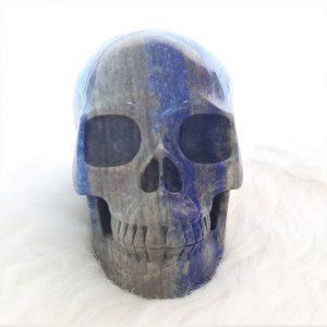 Kristallen schedel lapis lazuli - De Lichtkracht Academie - fannyvanderhorst.nl