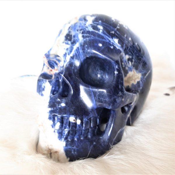 Kristallen schedel sodaliet- De Lichtkracht Academie - fannyvanderhorst.nl