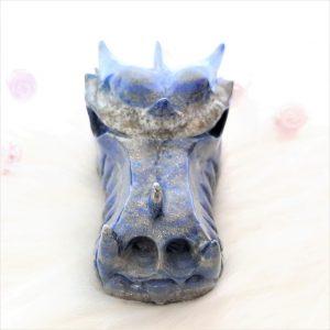 Drakenschedel lapis lazuli - De Lichtkracht Academie - fannyvanderhorst.nl