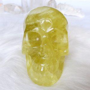 Kristallen schedel citrien - De Lichtkracht Academie - fannyvanderhorst.nl