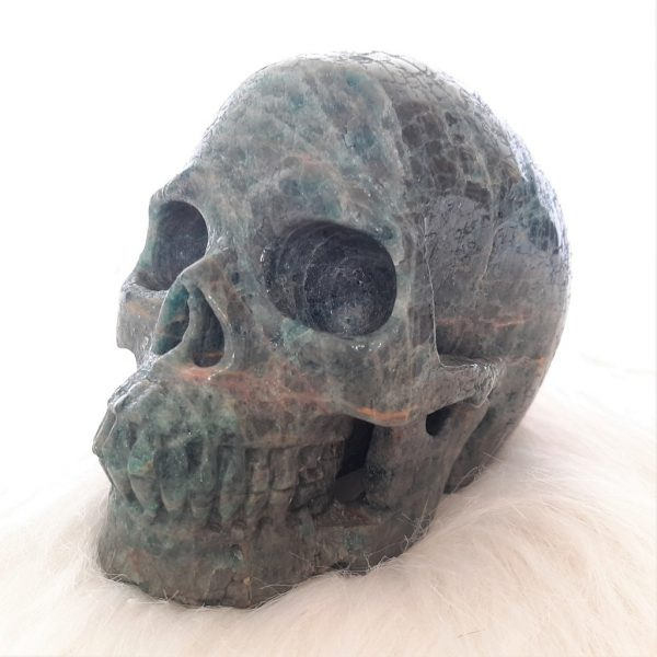 Kristallen schedel apatiet - De Lichtkracht Academie - fannyvanderhorst.nl