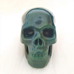 Kristallen schedel heliotroop